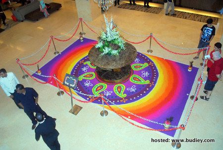 Associates and Guests viewing the lovely KOLAM.