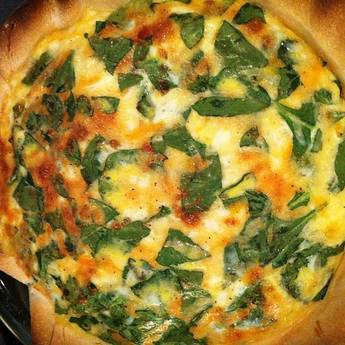 A rustic quiche florentine-it's what's for dinner!