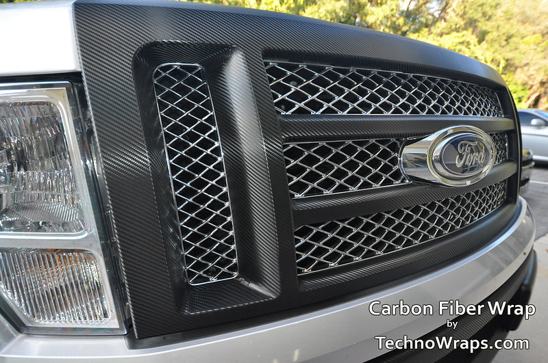 Carbon fiber wrapped grill 2
