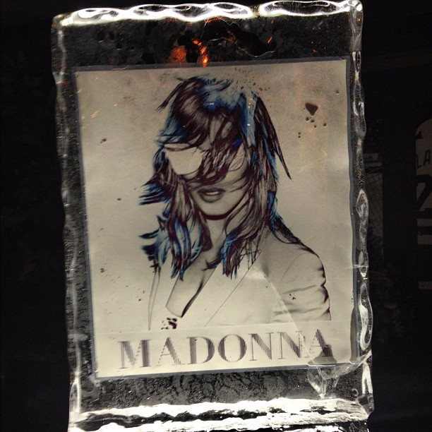 #madonna ice sculpture #music #detroit