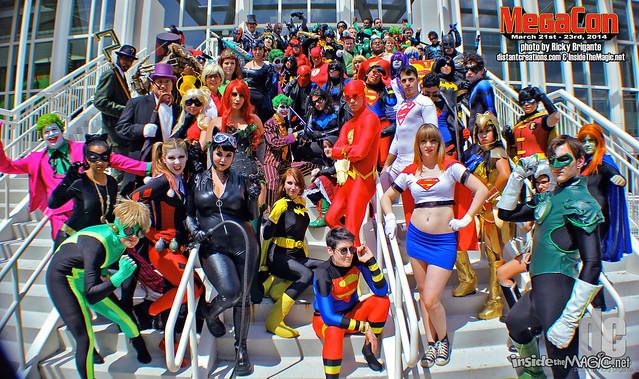 DC cosplay group at MegaCon 2014
