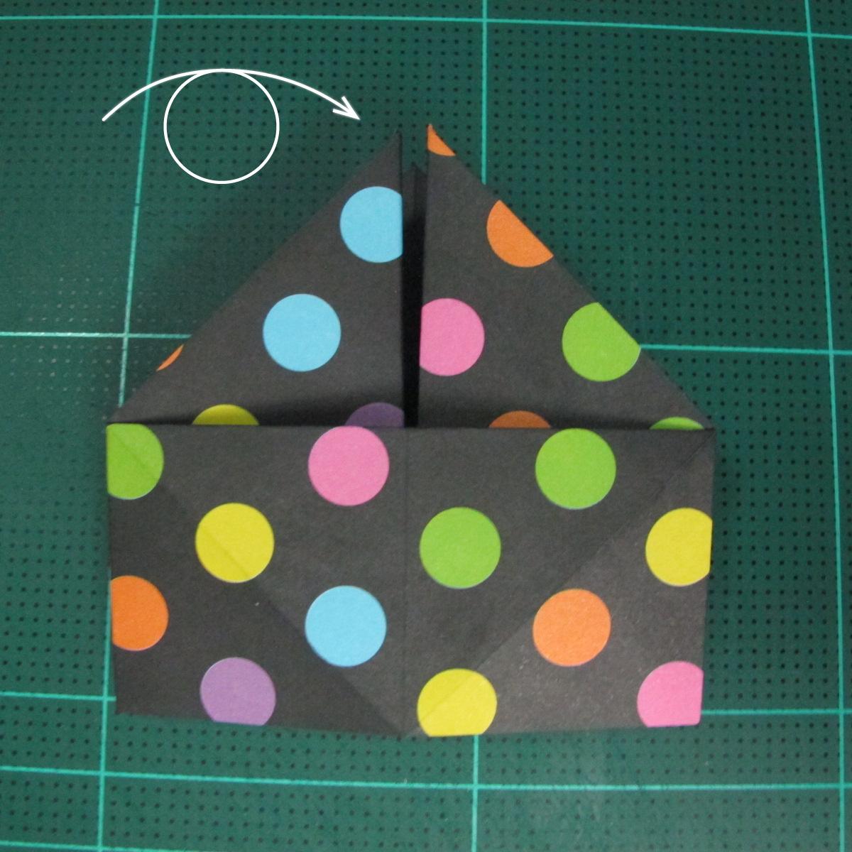 การพับกระดาษเป็นถุงใส่ขนมแบบญี่ปุ่น (Origami Sambo) 006