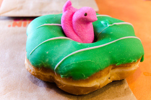 A Peeps Dunkin Donut
