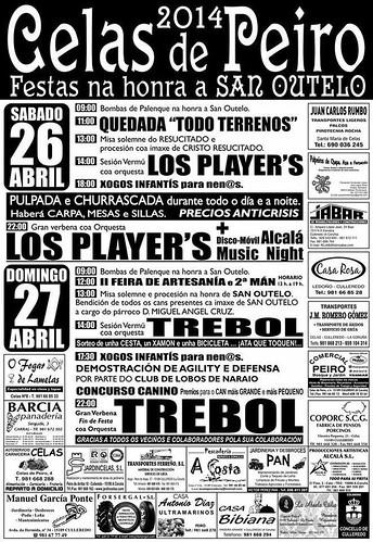 Culleredo  2014 - Festas de San Outelo en Celas de Peiro - cartel