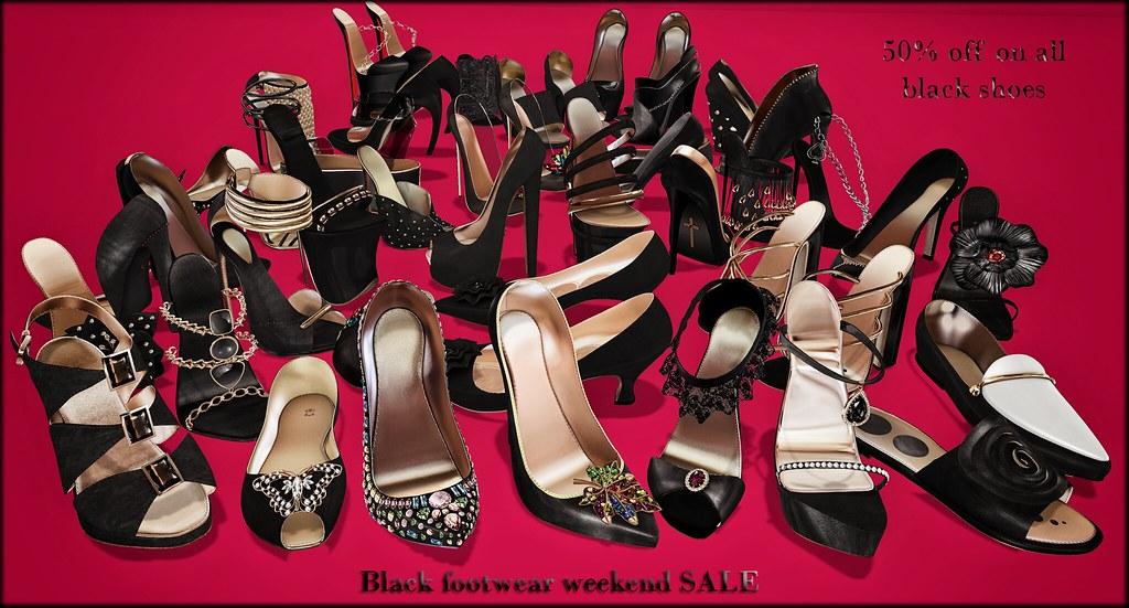 Black footwear weekend sale @ ChicChica
