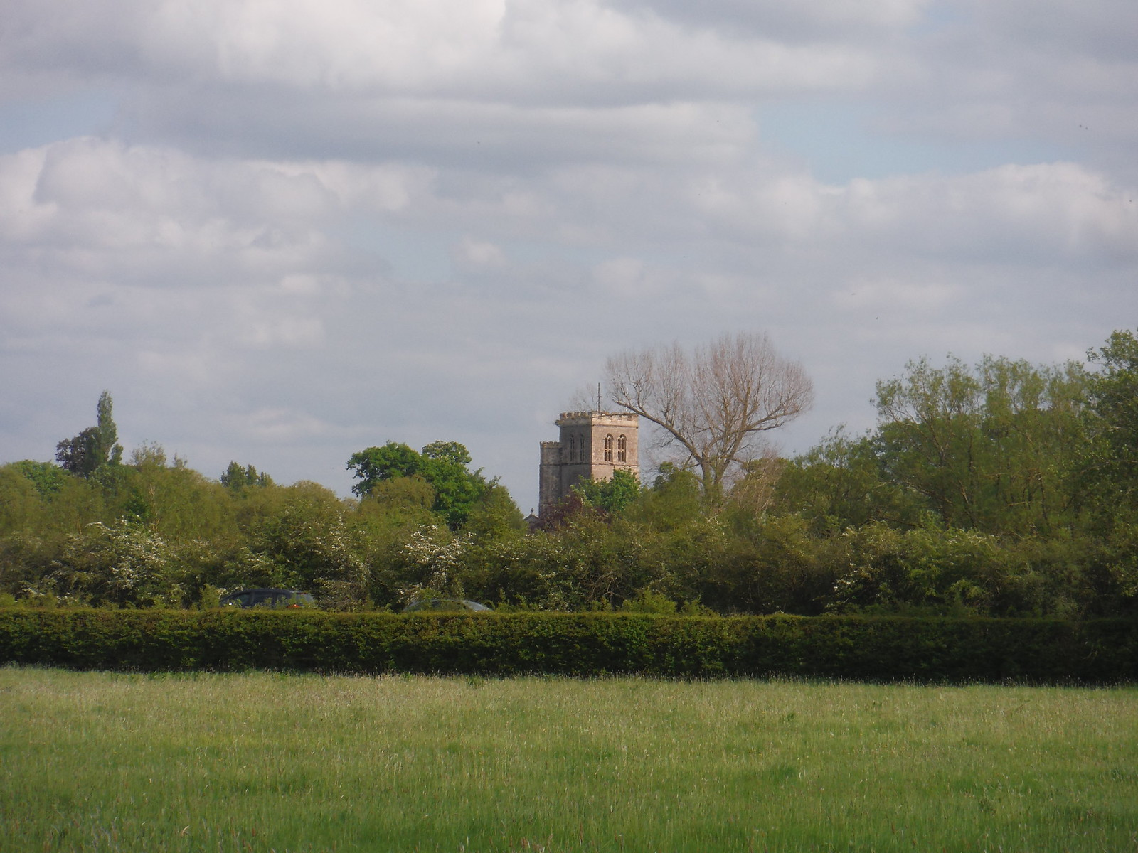 St. Mary the Virgin, Thame, from fields SWC Walk 190 - Thame Circular