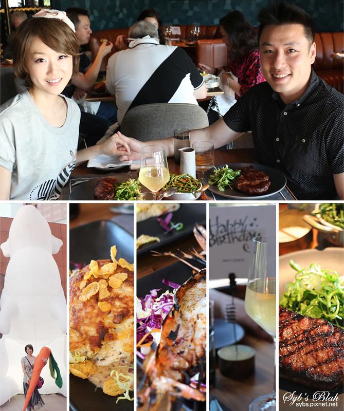 Nick + Stef's Steakhouse,Intrude,牛排館,西餐,展覽,巨型藝術裝置,大白兔,兔子,巨型兔,食記,藝術,洛城生活