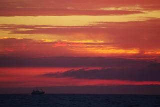 Retour au port au coucher du soleil 2