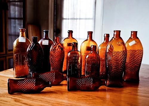 Amber Bitters & Medicinal Bottles