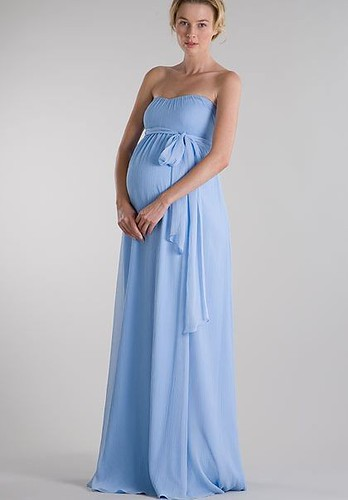 long maternity bridesmaid dress