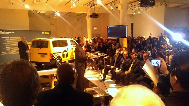 Mayor Bloomberg speaking at the Nissan Taxi of Tomorrow unveiling