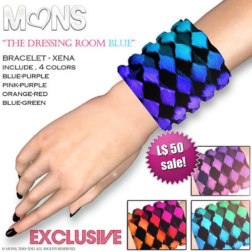 MONS Bracelet  Xena - TDRblue by Ekilem Melodie - MONS