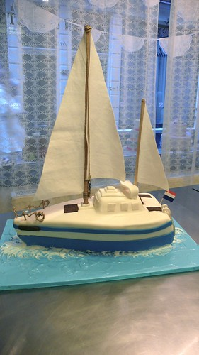 3D Sail Boat Cake by CAKE Amsterdam - Cakes by ZOBOT
