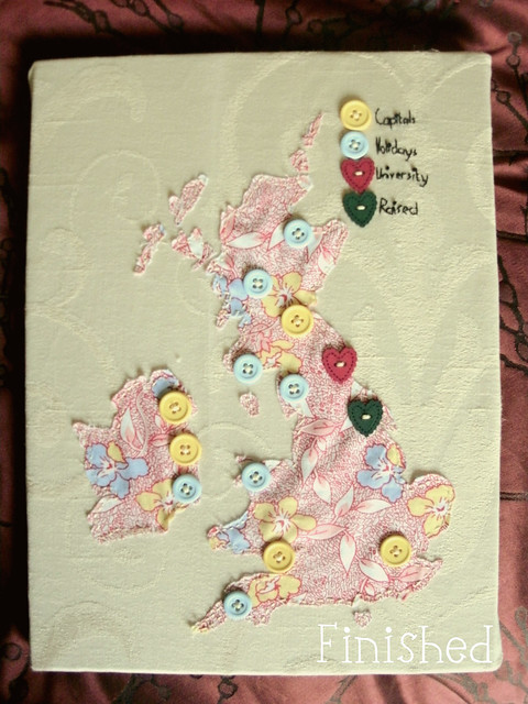 Crafty UK map