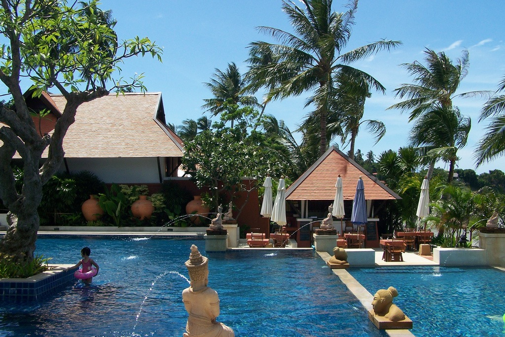 Tropical pool at the Renaissance Koh Samui, Thailand