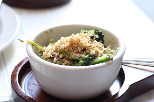 Broccoli with Roasted Garlic and Anchovy Vinaigrette