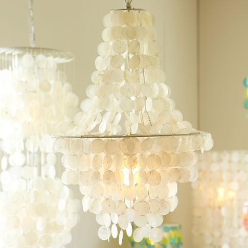 capiz shell chandelier pb teen