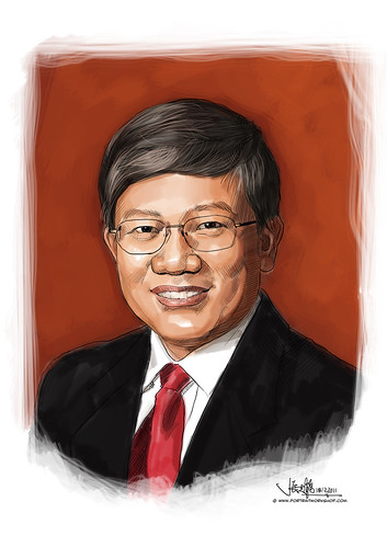digital portrait illustration of Heng CG