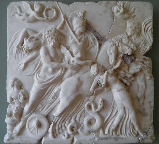 Relief du rapt de Proserpine, Style néo-attique ; Haut Empire, MSR, Musée Saint-Raymond, Villa romaine de Chiragan, Musée des Antiques de Toulouse