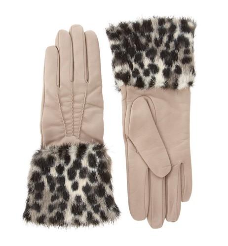 Animal Cuff Leather Gloves