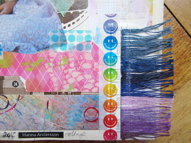 Art Journal detail: fringe by iHanna #artjournaling
