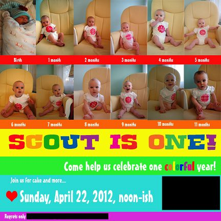 Scout's First Birthday Invitation