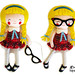 Schoolgirl Doll Sewing Pattern glasses copy by Dolls And Daydreams