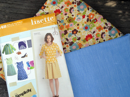Lisette pattern with possible fabrics