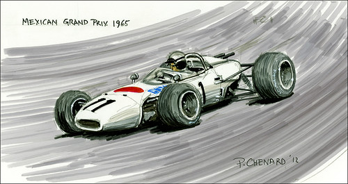 Mexican GP 1965 by Automobiliart