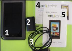 Nooks also come with charger and guide.