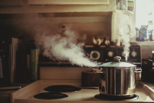 reflection film water beautiful look vintage steam pot stove flare windowlight watchedpotneverboils eos5dmarkii