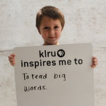 KLRU inspires me to ... to read big words