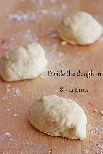 dividing the dough
