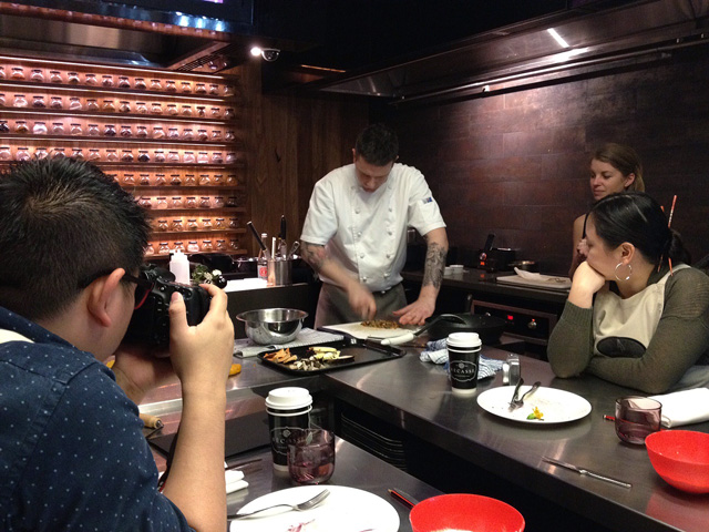 We were treated to a cooking class with Michael Robinson