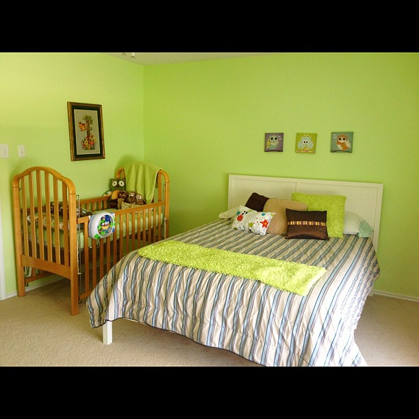 "Home tour... The baby/toddler room, bedroom 3 ""the green room""..."