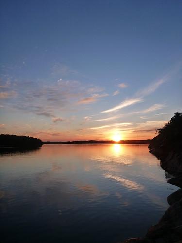 sunset summer water finland juhannus 2012 korppoo