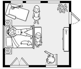 Mockup of the master bedroom