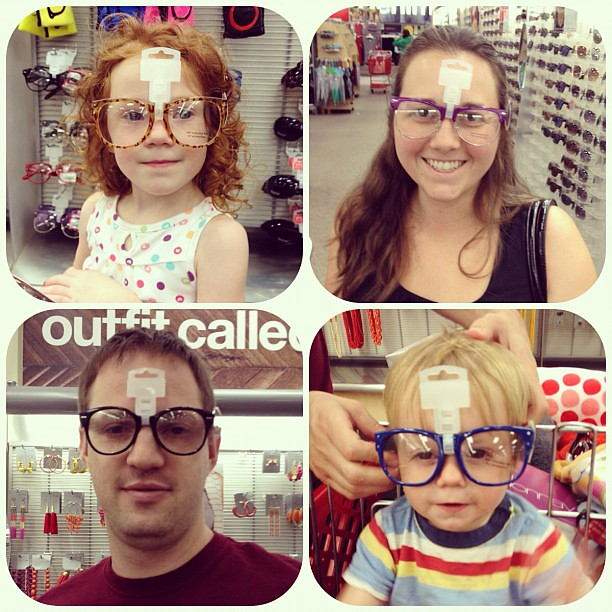 Hipster family.  #family #target #hipster #unnecessaryglasses