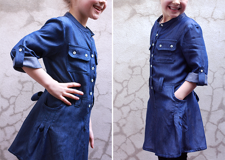 Blue Shirtdress #4