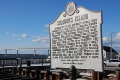 Governor Thomas Johnson Bridge leads to Solomon's Island
