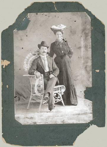 Man and woman with hat