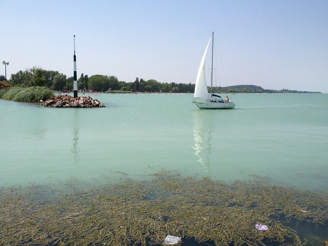 Sailboat on Lake Balaton, Hungary