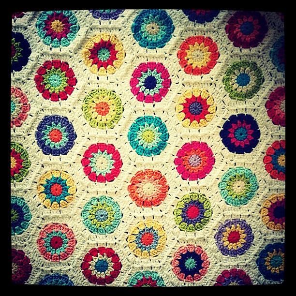 Hexagon afghan