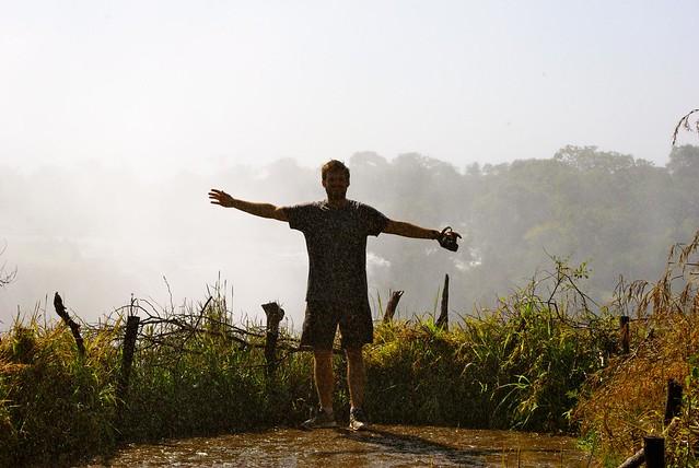 Josh at Victoria Falls