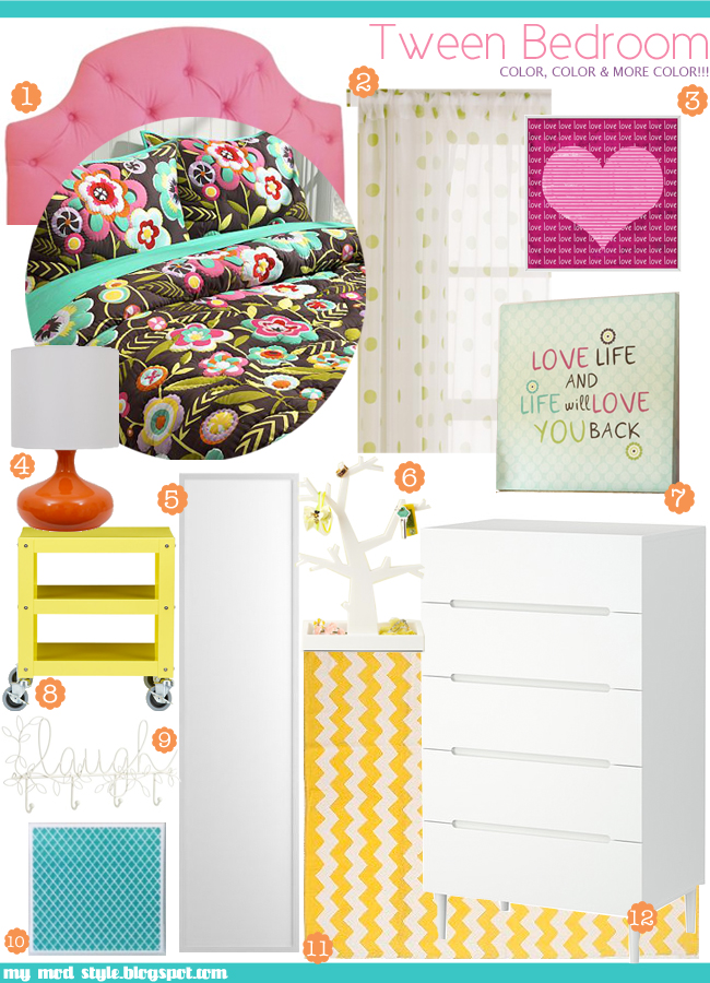 Design Board Tween Bedroom