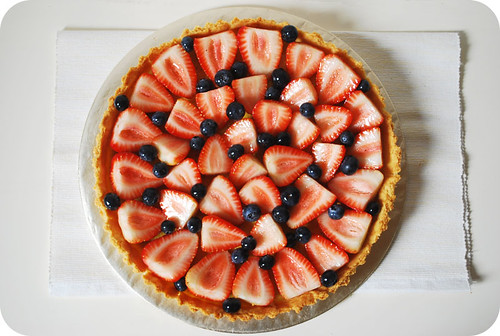 Mixed Berries Custard Tart
