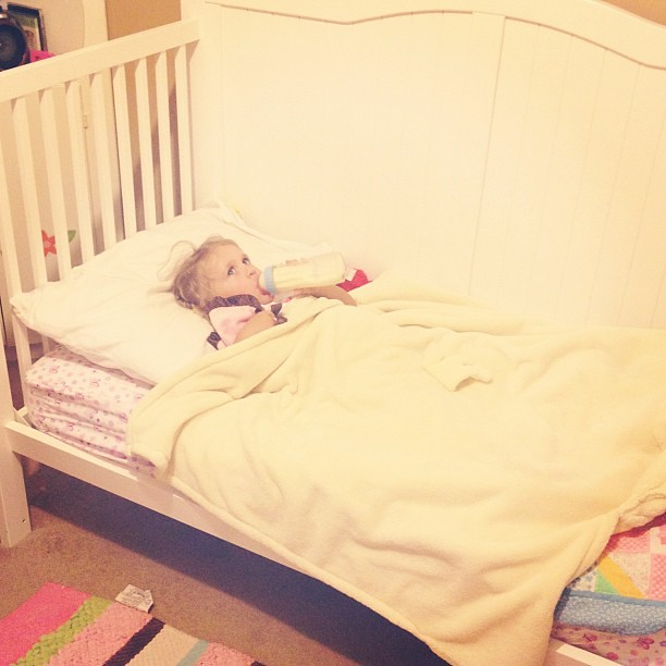 Trying the big girl bed tonight!