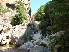 Brèche du Carciara : arrivée dans le canyon et traversée du ruisseau