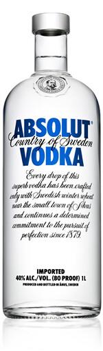Bottle of Absolut® Vodka