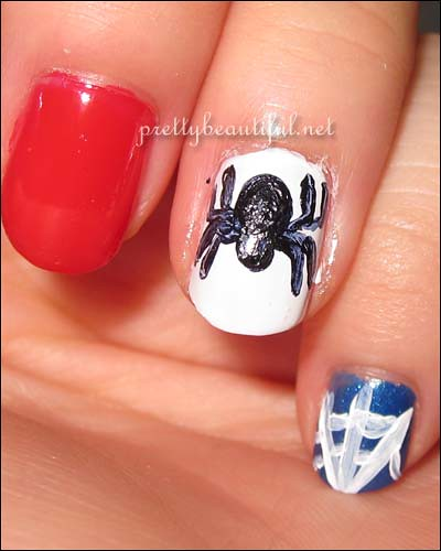 Spiderman Nail Art - Spider